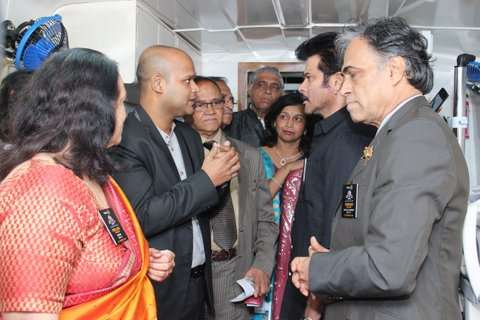 Anil Kapoor flagging off mobile eye clinic van – Sahu Eye Hospital