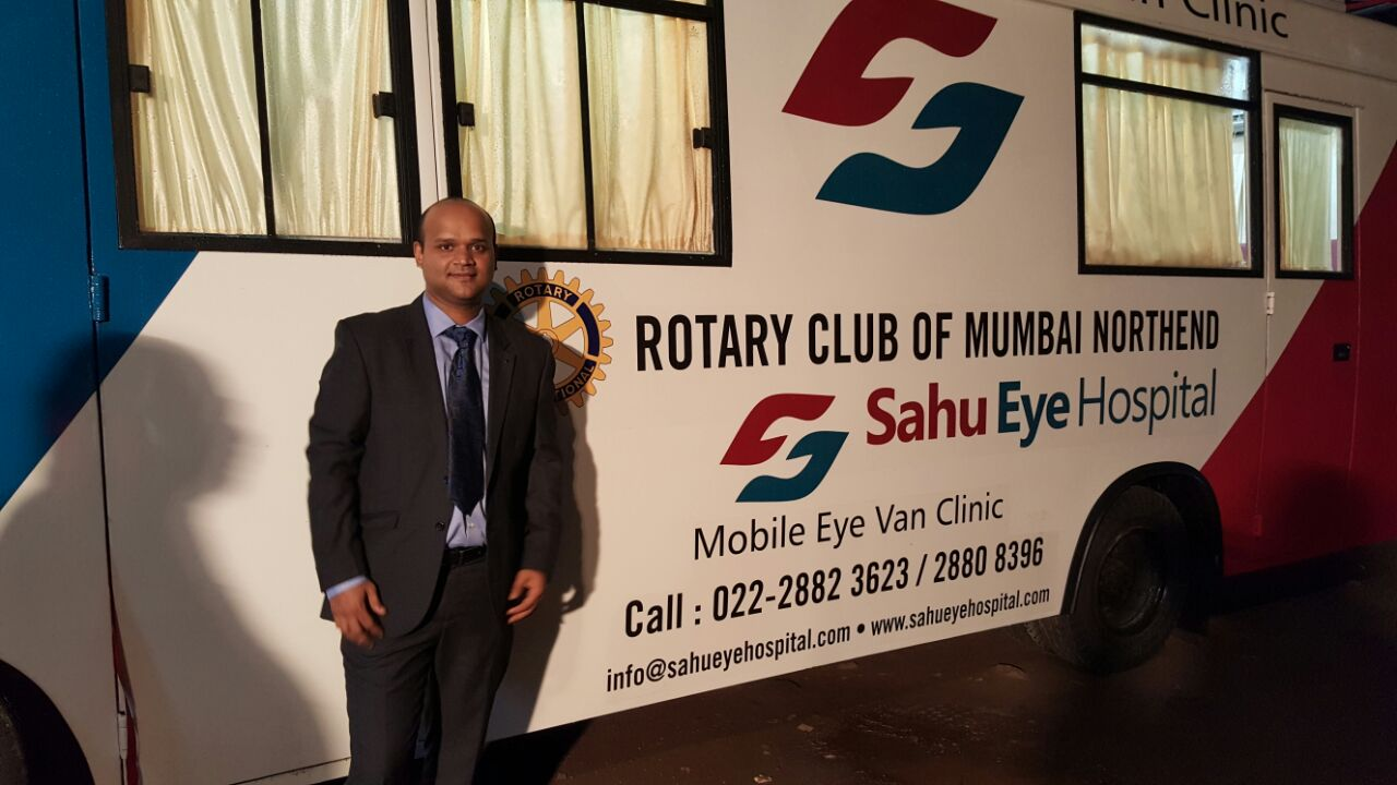 Sahu Eye Hospital's Mobile Eye Clinic Van